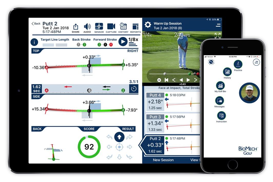 iPad iPhone practice screen